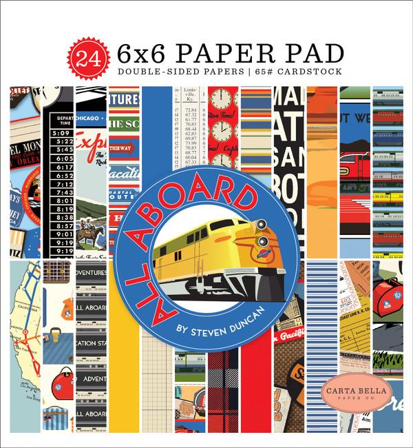 All Aboard: 6x6 Paper Pad