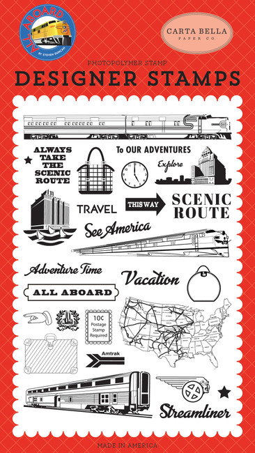 All Aboard: To Our Adventures Stamp