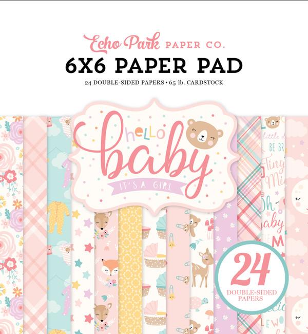 Hello Baby Girl: 6x6 Paper Pad