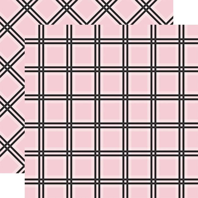 Tartan No. 1: Pink Tattersall 12x12 Patterned Paper