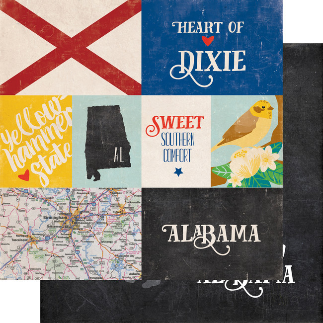 Stateside: Alabama 12x12 Patterned Paper