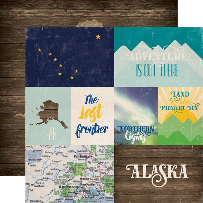 Stateside: Alaska 12x12 Patterned Paper