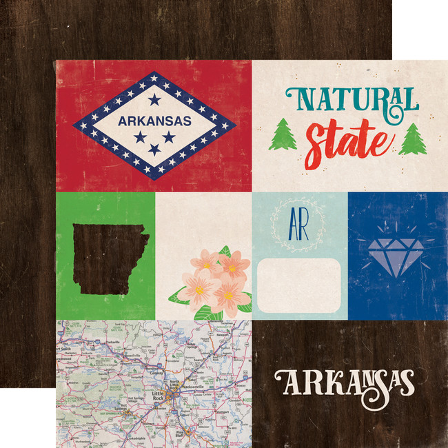 Stateside: Arkansas 12x12 Patterned Paper