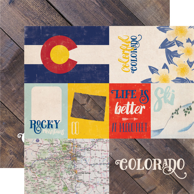 Stateside: Colorado 12x12 Patterned Paper