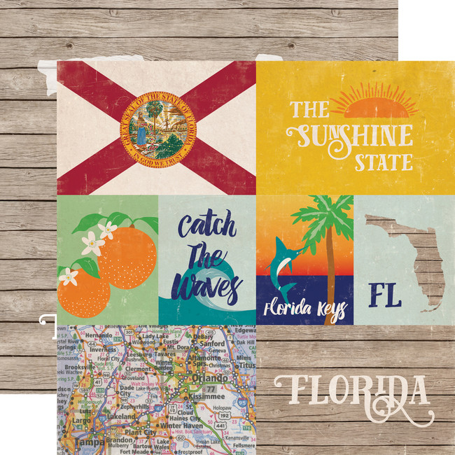 Stateside: Florida 12x12 Patterned Paper
