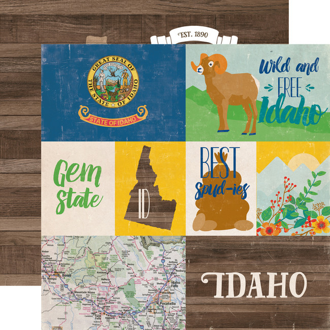 Stateside: Idaho 12x12 Patterned Paper