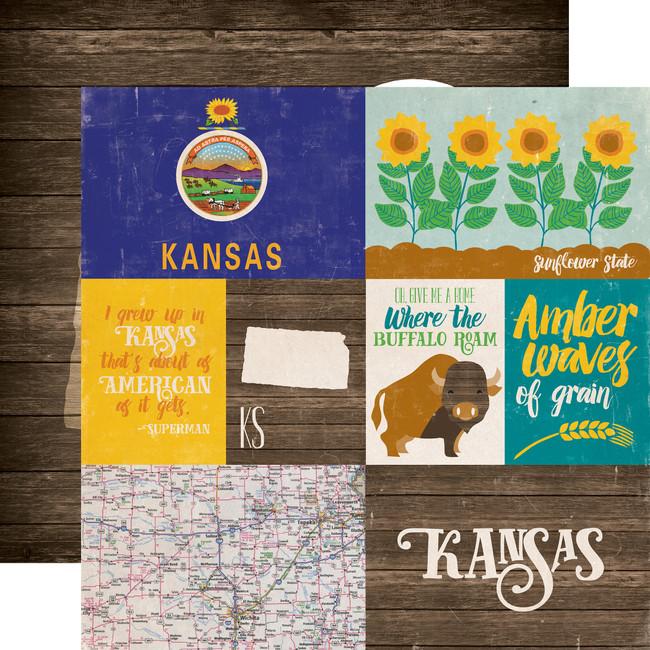 Stateside: Kansas 12x12 Patterned Paper
