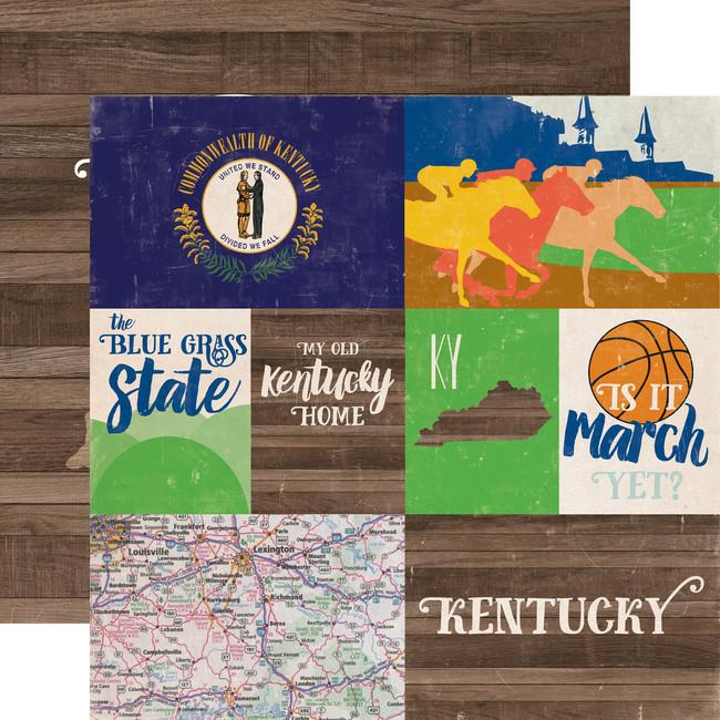 Stateside: Kentucky 12x12 Patterned Paper