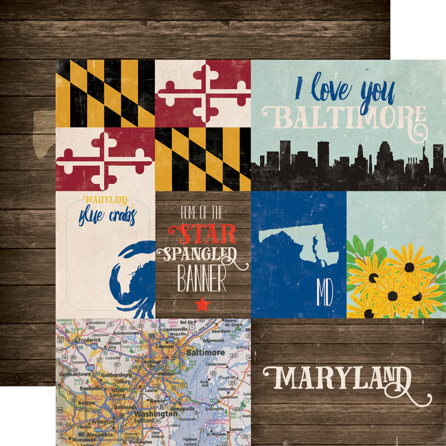 Stateside: Maryland 12x12 Patterned Paper