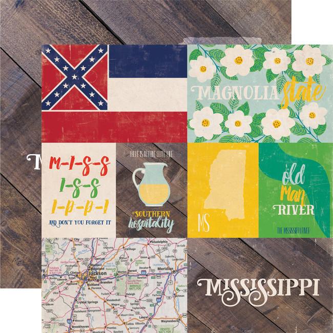 Stateside: Mississippi 12x12 Patterned Paper
