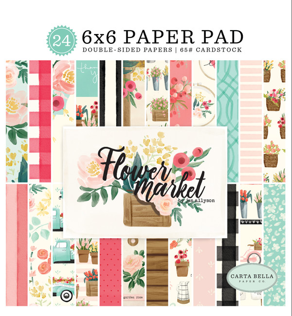 Flower Market: 6x6 Paper Pad
