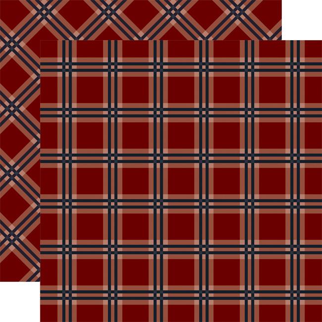 Tartan No. 2: Red Tattersall 12x12 Patterned Paper