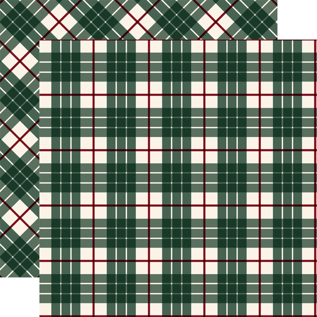 Tartan No. 2: Green Glen 12x12 Patterned Paper