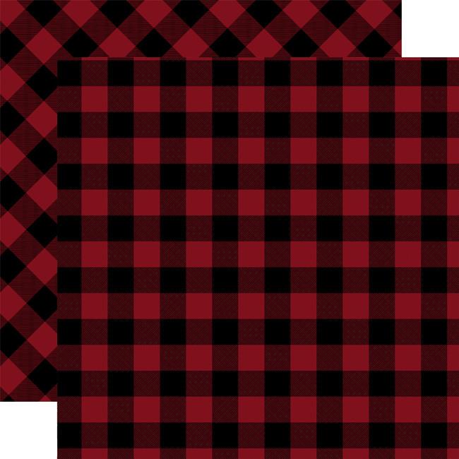 Tartan No. 2: Red Buffalo 12x12 Patterned Paper