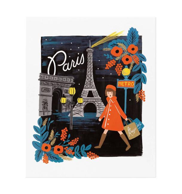 Rifle Paper Co: Travel Paris Art Print