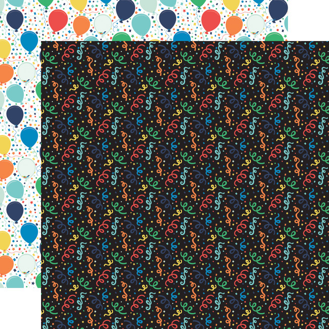 It's Your Birthday Boy: Boy Confetti 12x12 Patterned Paper