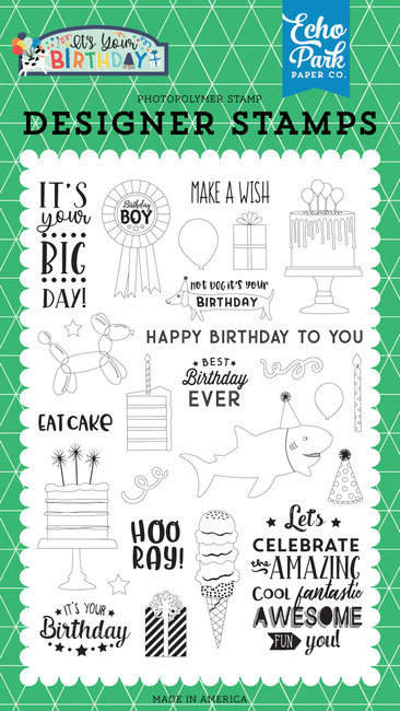 It's Your Birthday Boy: Birthday Boy Stamp Set