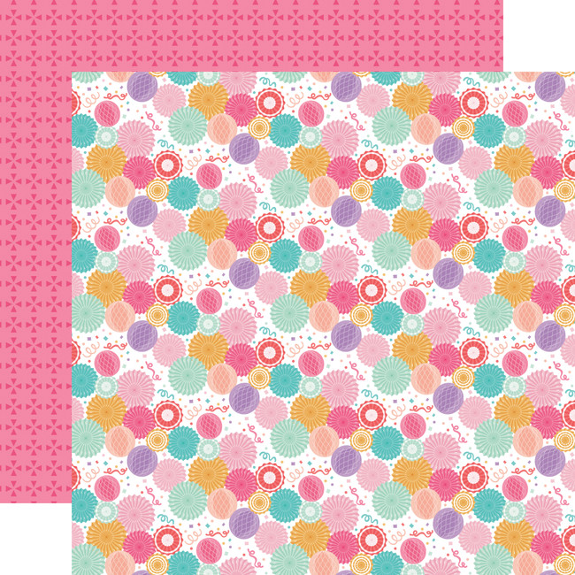 It's Your Birthday Girl: Birthday Girl Party Fans 12x12 Patterned Paper