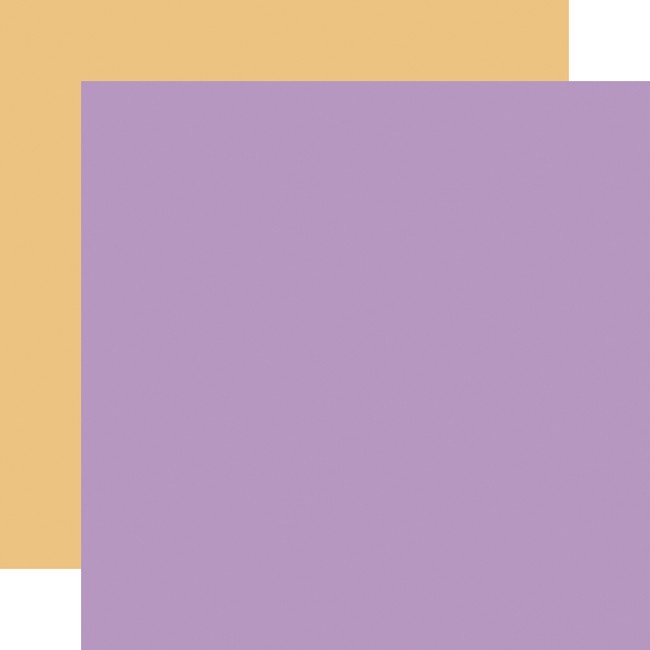 It's Your Birthday Girl: Purple/Yellow 12x12 Solid Paper