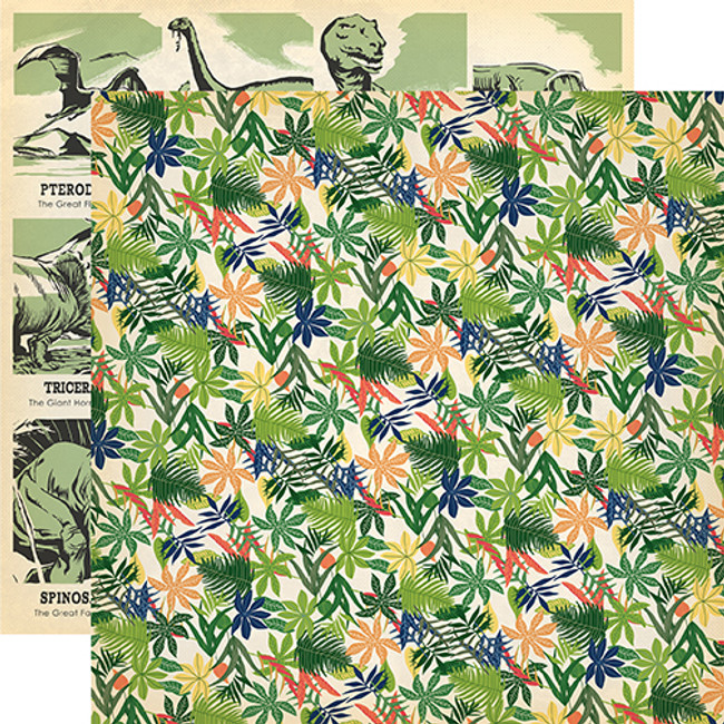 Dinosaurs: Jungle Palms 12x12 Patterned Paper