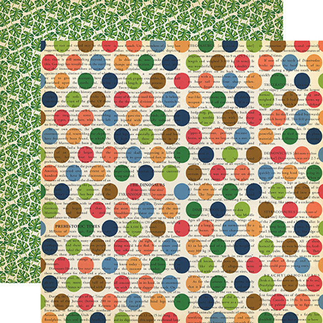 Dinosaurs: Dino Dot 12x12 Patterned Paper