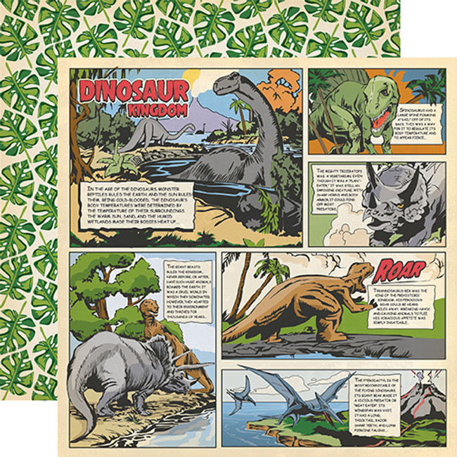 Dinosaurs: Dino Comic Strip 12x12 Patterned Paper