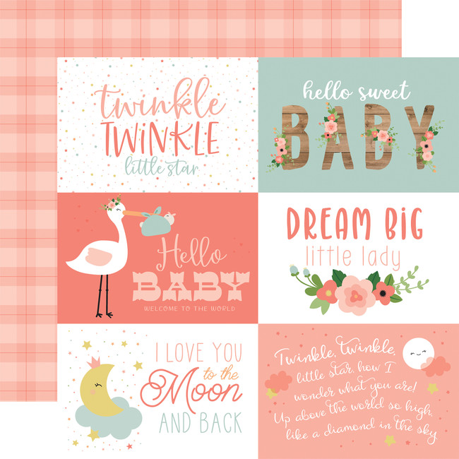 Baby Girl: 6X4 Journaling Cards 12x12 Patterned Paper