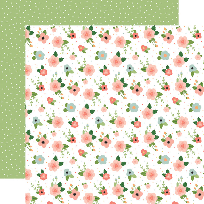 Baby Girl: Newborn Floral 12x12 Patterned Paper