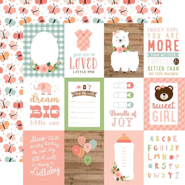 Baby Girl: 3X4 Journaling Cards 12x12 Patterned Paper