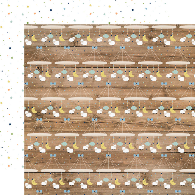 Baby Boy: Little Man Mobiles 12x12 Patterned Paper