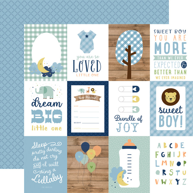 Baby Boy: 3X4 Journaling Cards 12x12 Patterned Paper