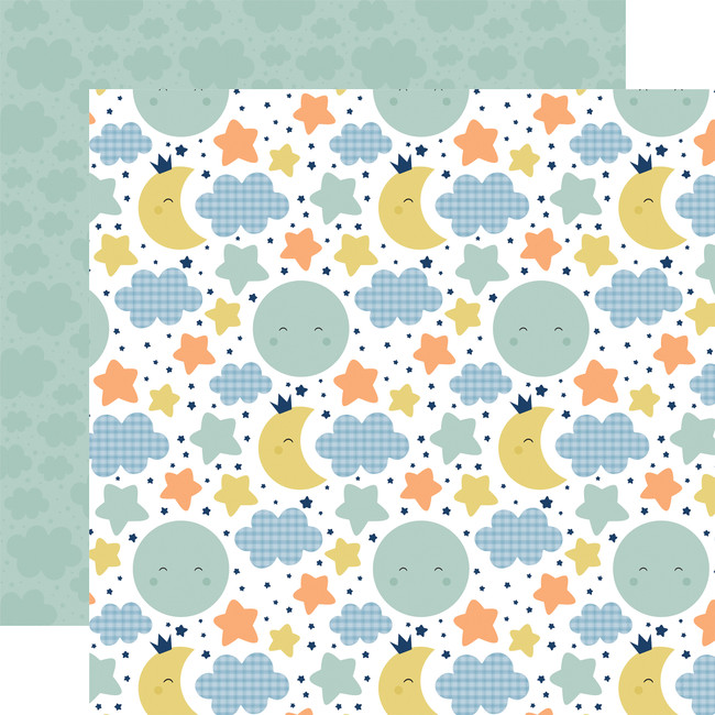 Baby Boy: Moon & Stars 12x12 Patterned Paper
