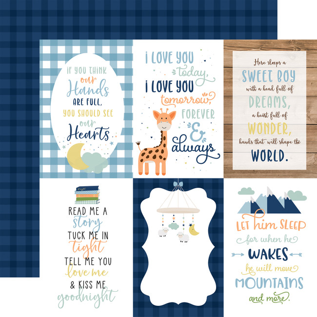 Baby Boy: 4X6 Journaling Cards 12x12 Patterned Paper