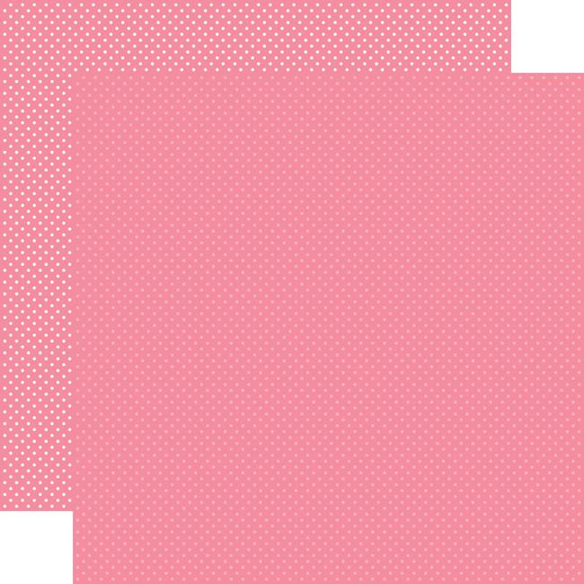 Carta Bella Dots & Stripes: Bubblegum Pink Dots 12x12 Patterned Paper