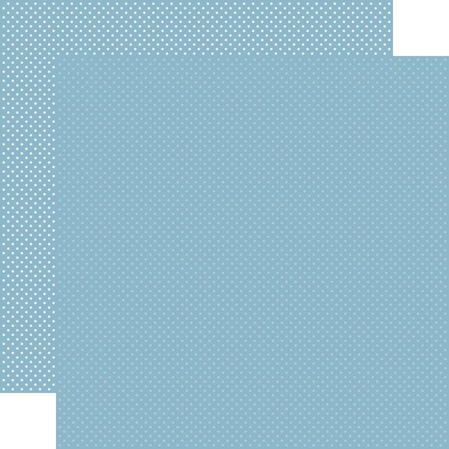 Carta Bella Dots & Stripes: Blue Dots 12x12 Patterned Paper