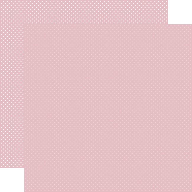 Carta Bella Dots & Stripes: Light Mauve Dots 12x12 Patterned Paper