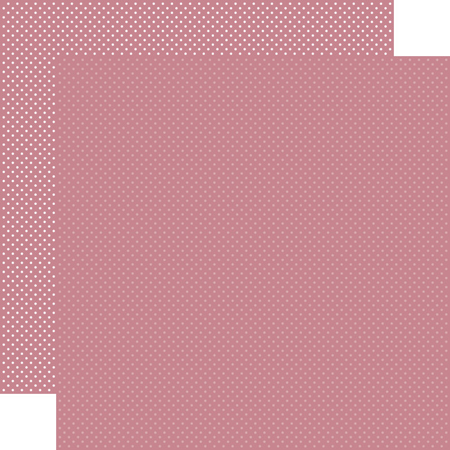 Carta Bella Dots & Stripes: Mauve Dots 12x12 Patterned Paper