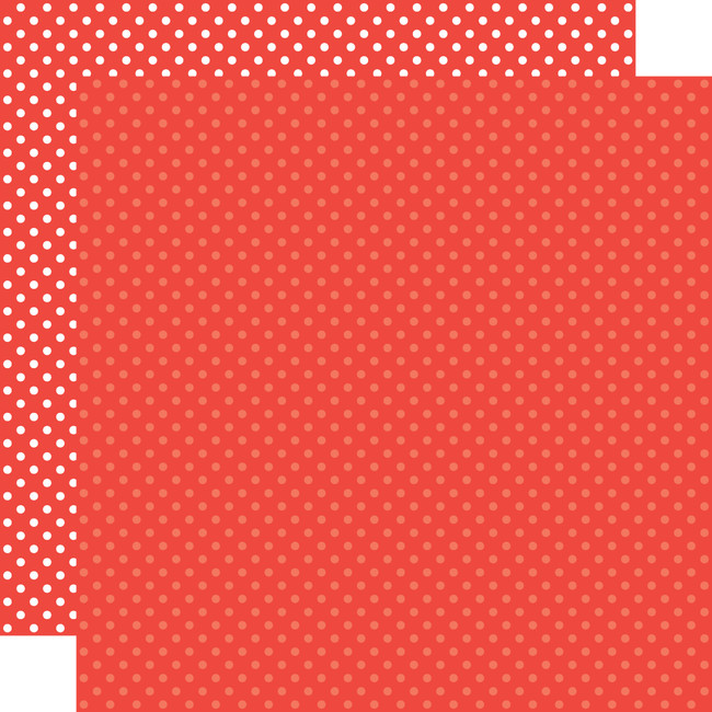 Dots & Stripes: Cherry Red 12x12 Patterned Paper