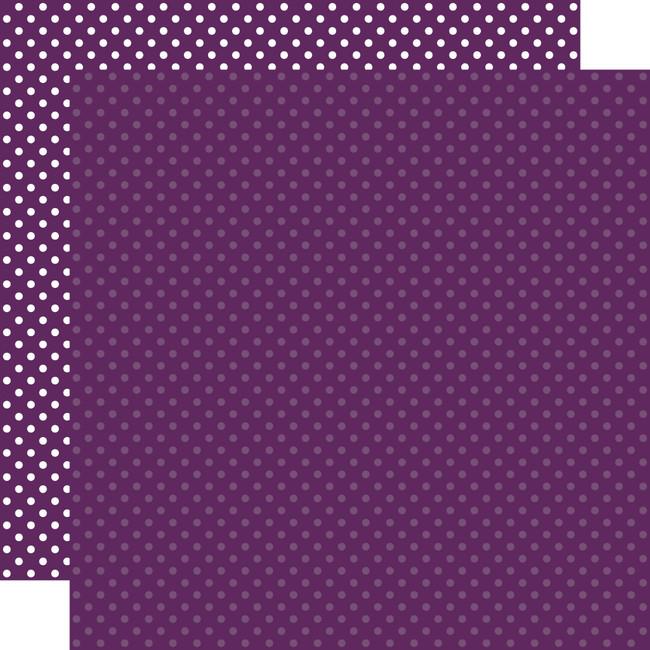 Dots & Stripes: Purple 12x12 Patterned Paper