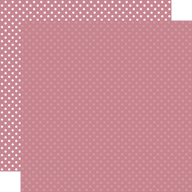 Dots & Stripes: Mauve 12x12 Patterned Paper