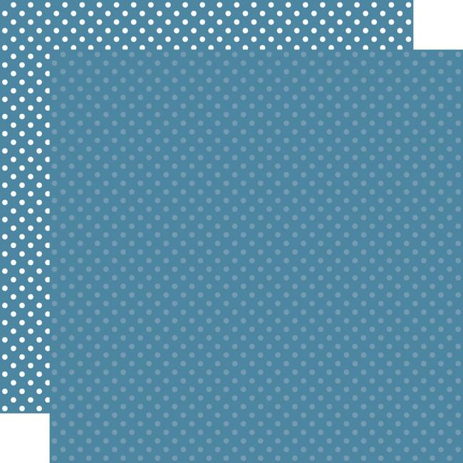 Dots & Stripes: Medium Blue 12x12 Patterned Paper