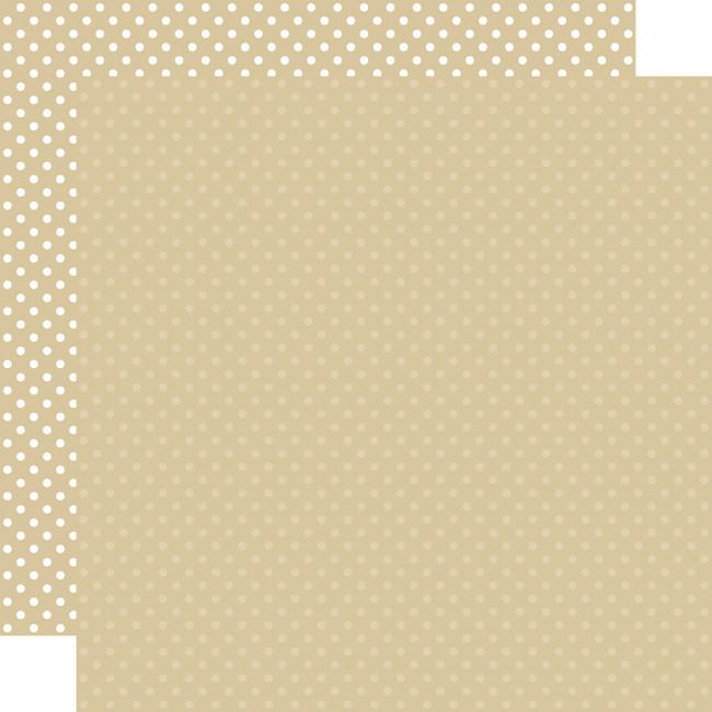 Dots & Stripes: Tan 12x12 Patterned Paper