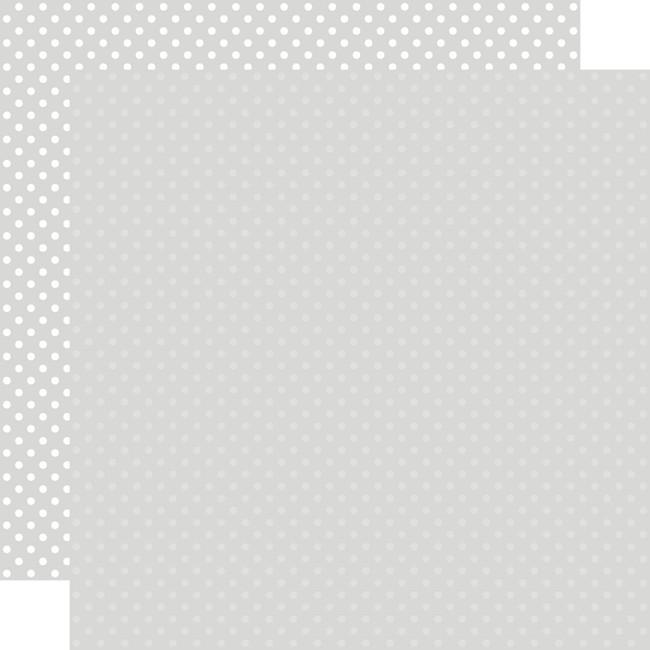 Dots & Stripes: Light Grey 12x12 Patterned Paper