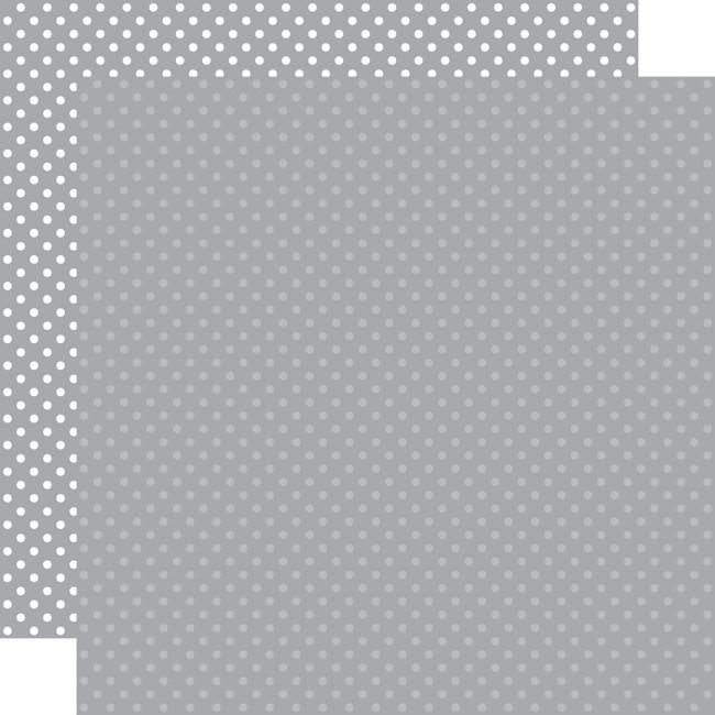Dots & Stripes: Grey 12x12 Patterned Paper
