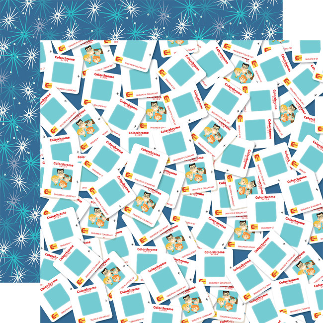 Family Night: Photo Slides 12x12 Patterned Paper