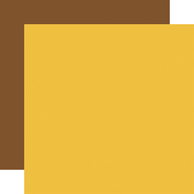 Family Night: Yellow / Brown 12x12 Solid Paper