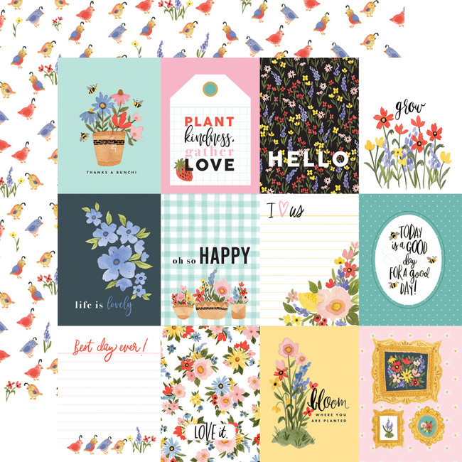 Oh Happy Day: 3X4 Journaling Cards 12x12 Patterned Paper