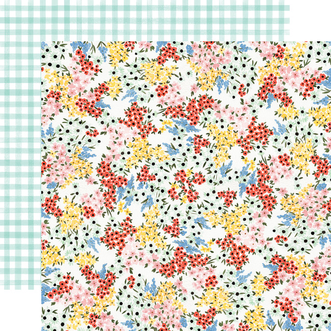 Oh Happy Day: Tiny Floral 12x12 Patterned Paper