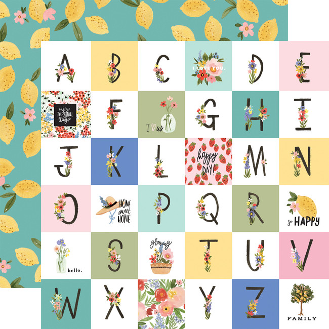 Oh Happy Day: Happy Alphabet 12x12 Patterned Paper
