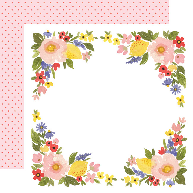Oh Happy Day: Bloom Border 12x12 Patterned Paper